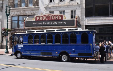 A milestone in history: college trolley system used