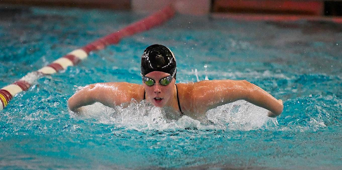 Kerry Kelly swimming the Butterfly for the Dutchwomen. Photo courtesy Union Athletics.