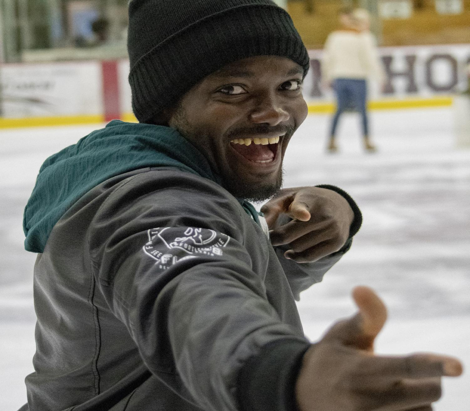 Clifford Adodo Elike '20 skating. Photo by Stephen Nadler.