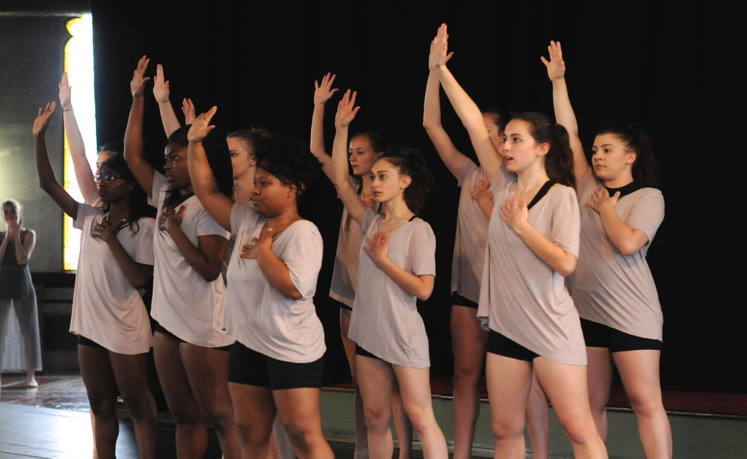 Students rehearsing for the annual Steinmetz Dance Performance. Courtesy of Miryam Moutillet.