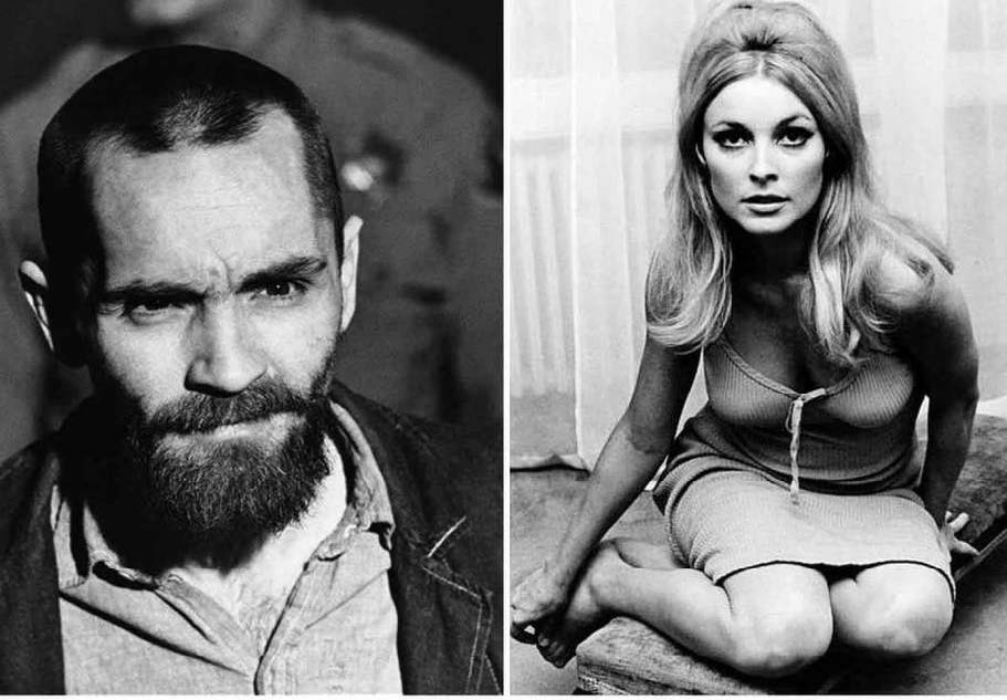 Charles Manson and Sharon Tate, played in the film by Damon Herriman and Margot Robbie respectively. Courtesy of the New Haven Register.
