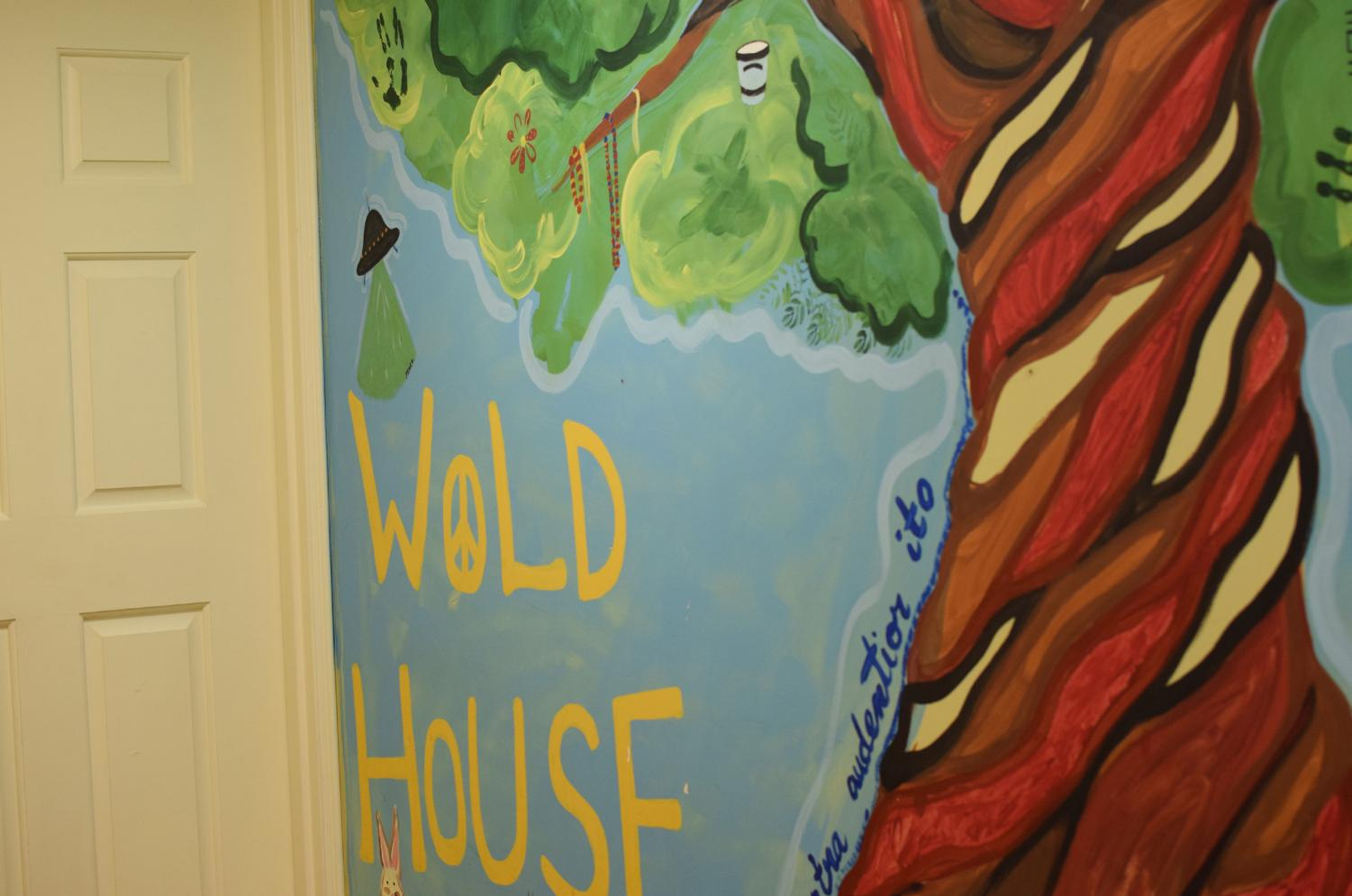 Wold art displayed at Wold Minerva House. Photo by Alex Appel.