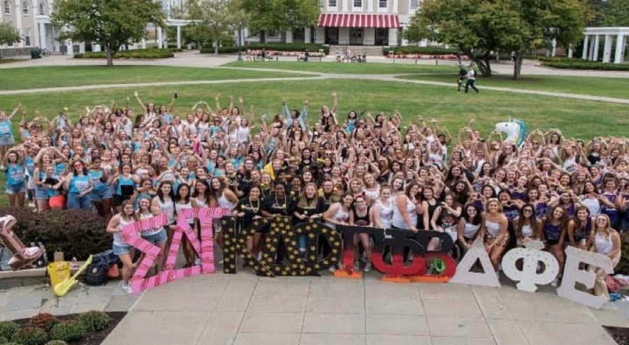 Greek life welcomes new members at Bid Day celebration