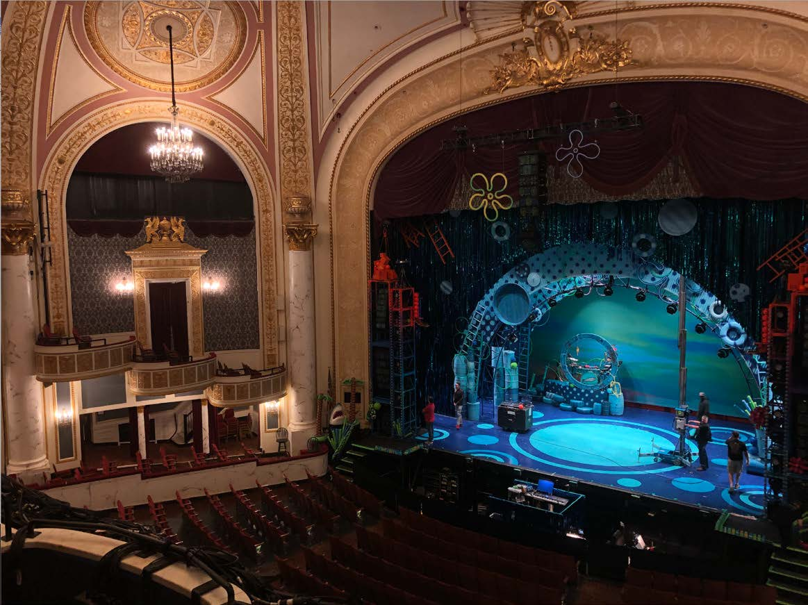 Proctors Theatre in preparation for Spongebob the Musical, which took to the stage from September 22 to September 28, 2019. Photo by Marisa Peters.