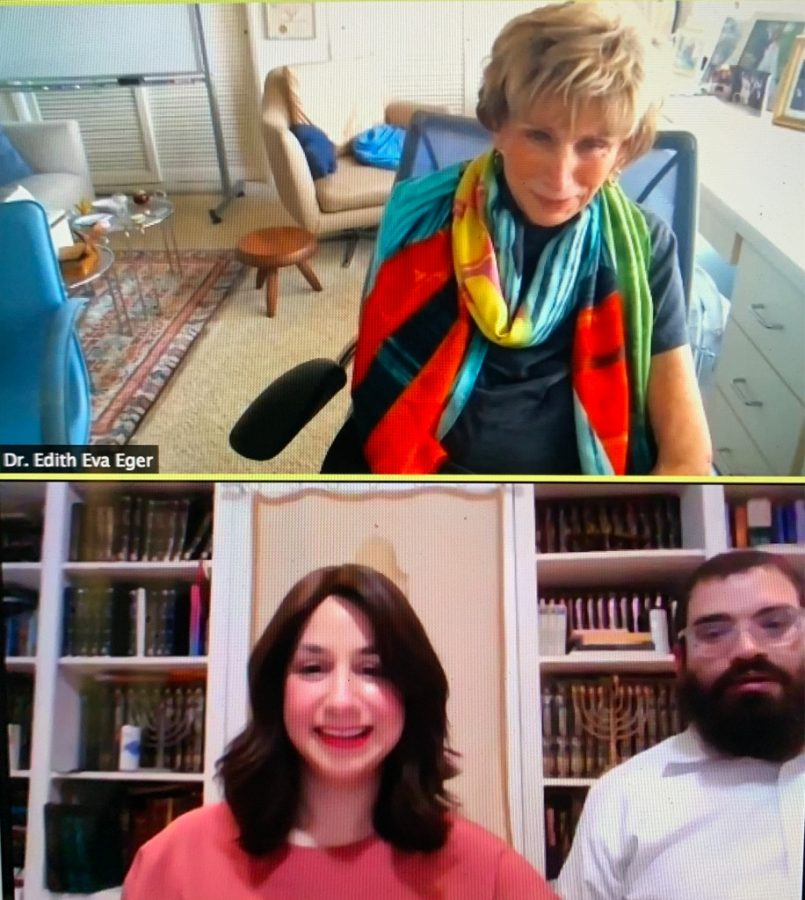 Union+Chabad+and+Professor+Berk+host+Dr.+Edith+Eva+Eger%2C+a+Holocaust+survivor%2C+a+clinical+psycologist+and+an+author.