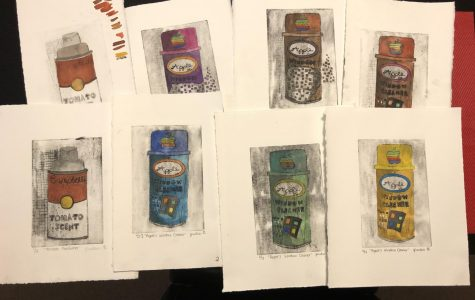 Vintage cans drawn by Justen George'23