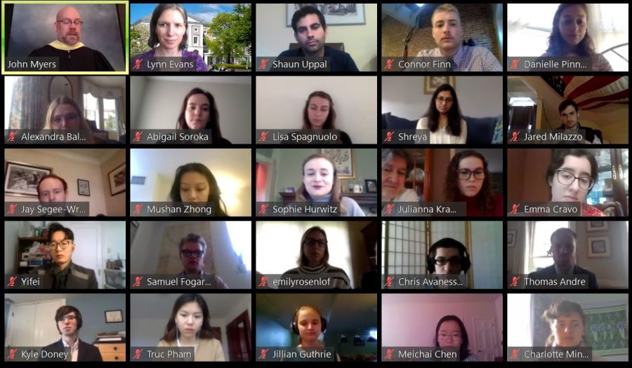 Virtual Phi Beta Kappa Induction Ceremony