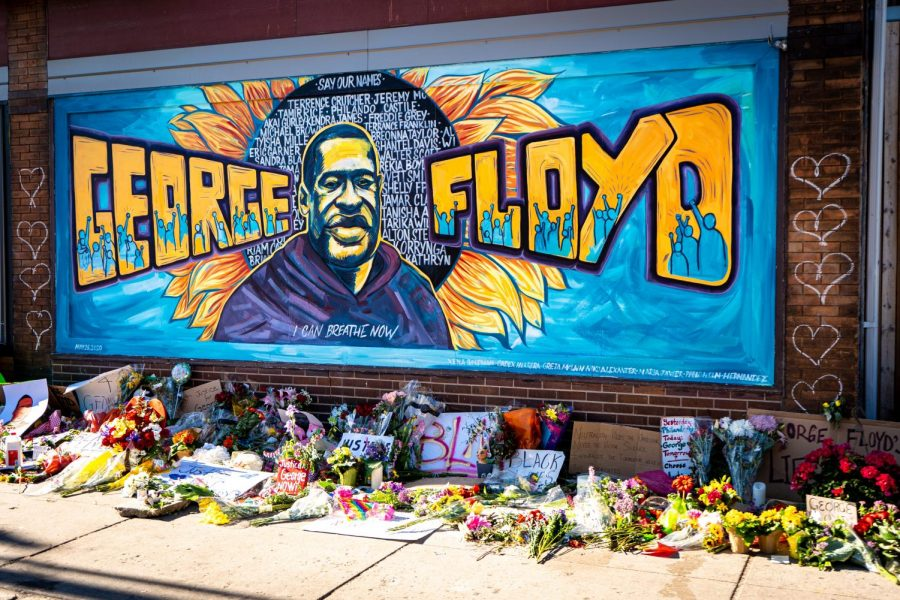 Graffiti+mural+honoring+George+Floyd+from+a+Black+Lives+Matter+protest+in+Minneapolis%2C+MN.