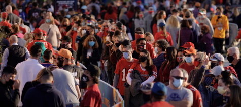 Courtesy of the New York Times | Crowds gathering before the 2021 Super Bowl